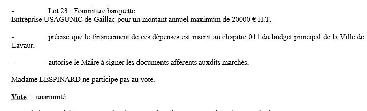 vote lespinard