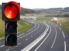 autoroute feu rouge